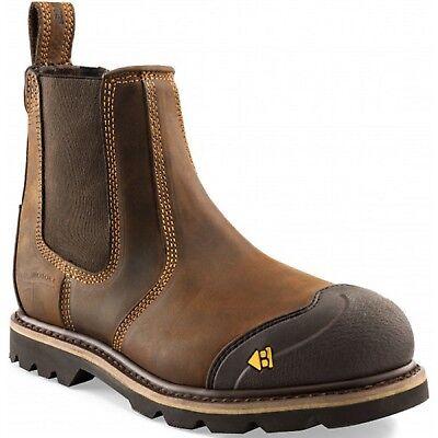 Buckler B1990SM Buckflex Safety Dealer Work Boots Dark Brown (Sizes 6-13)