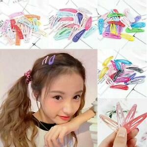 30Pc-Mixed-5cm-Snap-Hair-Clips-Color-Metal-Barrettes-Baby-Children-Pins-Hairpins