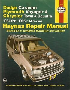 haynes dodge caravan plymouth voyager chrysler town country rh ebay co uk 2010 chrysler town and country repair manual chrysler town and country repair manual pdf