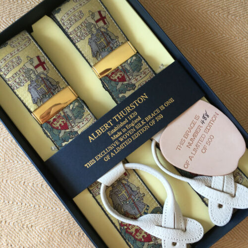 Albert Thurston édition limitée Tissé Bretelles//Bretelles.. Limité à 500 Piec...