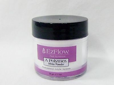 Health & Beauty Ezflow Acrylic Nail Powder A Polymer White .75oz/21g Be Friendly In Use