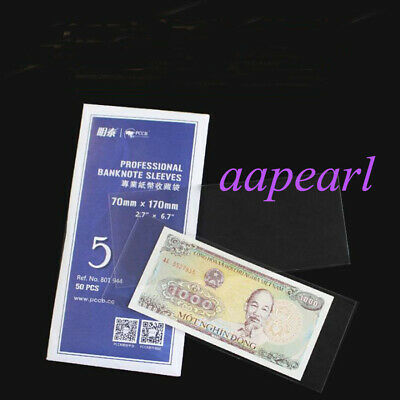 1 pcs Hard Clear Currency Sleeves Holders 10.5x18cm for Banknotes Bills Display