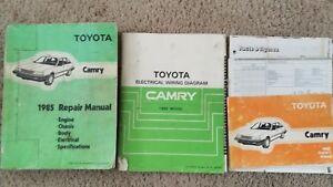 Original 1985 Toyota Camry Repair Manual, Electrical ...