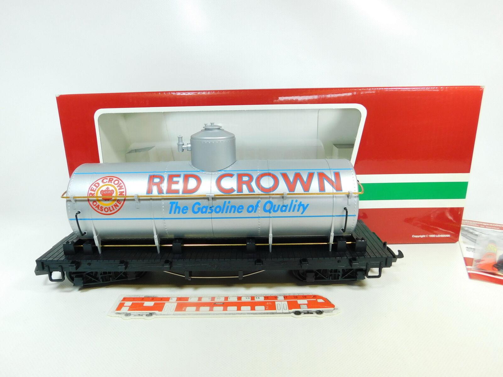 BR96-3 LGB Escala G   Iim   Dc 4180 Us Usa-Kesselwagen Red Crown