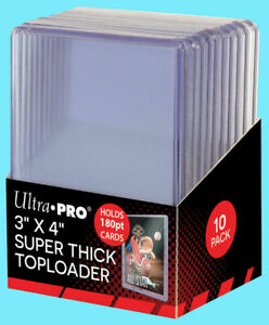 50-Ultra-Pro-180pt-TOPLOADERS-3x4-Top-Loader-Super-Thick-NEW-FREE-SHIP