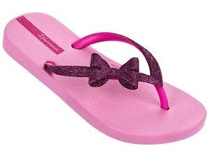 f63012a0266d Girls Ipanema Lolita Glitter Bow Flip Flops - Fuchsia Pink - Size ...