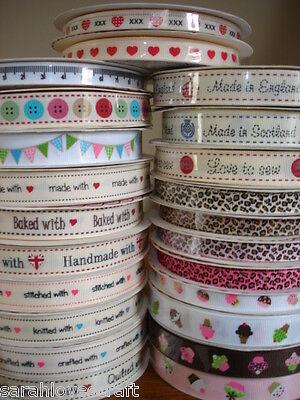Bertie's Bows Grosgrain Craft Ribbon/Trim/Labels ~ Lots to Choose ~ 1mtr or 3mtr