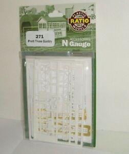 271 Ratio pratt Truss Gantry N Gauge Plastic Kit