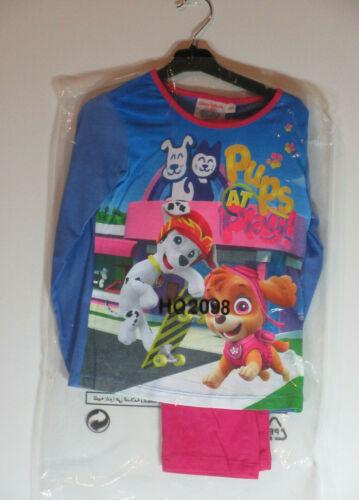 Paw Patrol Pyjamas 4-5 yrs Pink Blue Sparkly Glitter