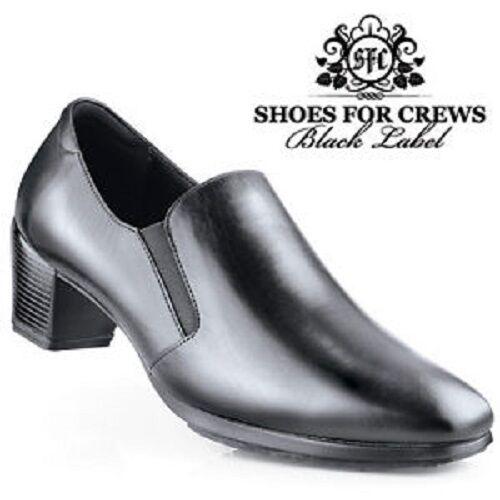 Sfc schuhe schuhe schuhe For Crews Classico Schwarzes Leder Damen Schuhe 3701 Sz 5 35 Neu 0f75e9