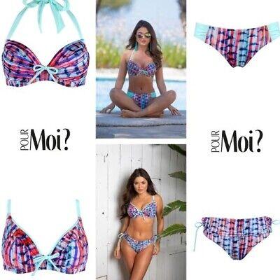 Tab or Fold Over Brief Pour Moi Havana Breeze Multi Bandeau Padded Bikini Top
