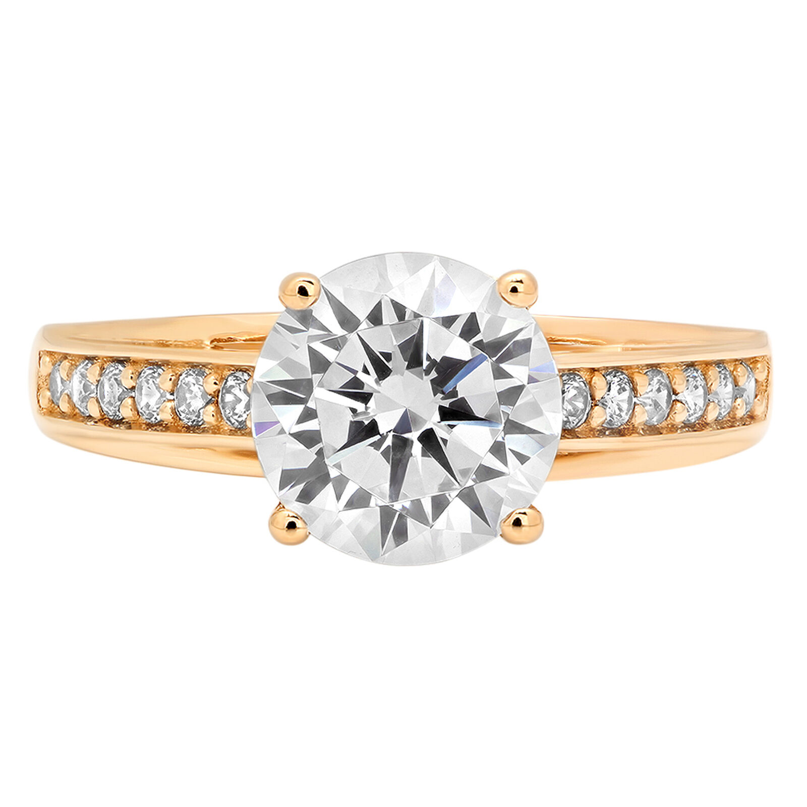 2.31ct Round Cut Anniversary Engagement Bridal Solitaire Ring 14k Yellow gold