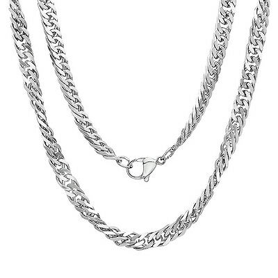 Mens 24 inch Stainless Steel Link Chain Necklace