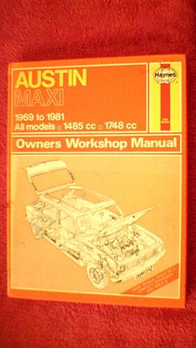 Haynes Owners Workshop Manual Austin Maxi 1969-1981