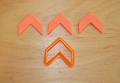 Chevron Cookie Cutter 3d Printed plastique