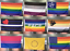 150*90cms ALL PRIDE FLAGS Gay Lesbian Trans Bisexual Pansexual  and others Flags