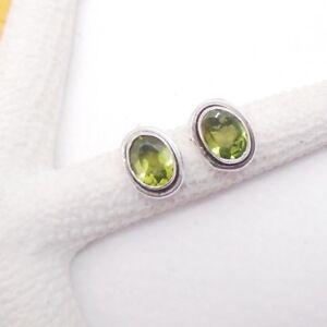 Peridot-green-gruen-modern-elegant-oval-Ohrstecker-Ohrringe-925-Sterling-Silber