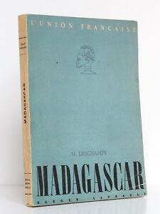 Madagascar-Hubert-DESCHAMPS-Berger-Levrault-1947-3-cartes-et-16-photographies