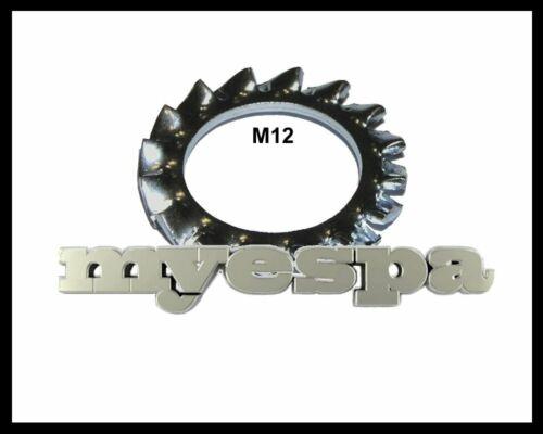 10x Zahnscheibe Fächerscheibe Sternscheibe M12 DIN 6798 AZ verzinkt