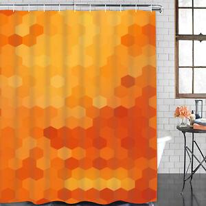 Details About Usa Waterproof Shower Curtain Unique Art Geometric Dorm Bathroom Cover