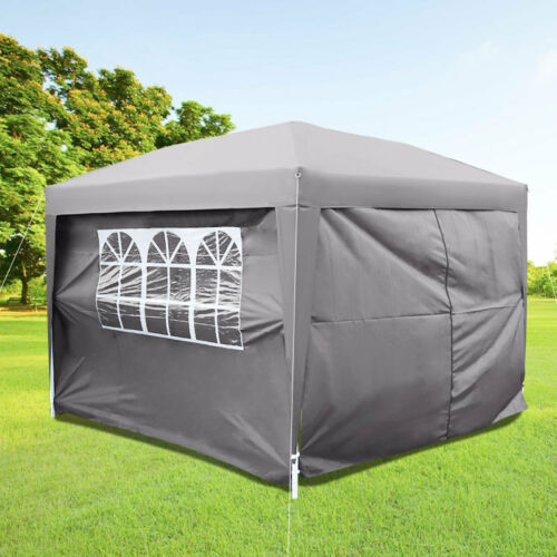 2Mx2M 3M 4.5M 6M Outdoor Garden Gazebo Marquee Wedding Party Tent w//Side Cover