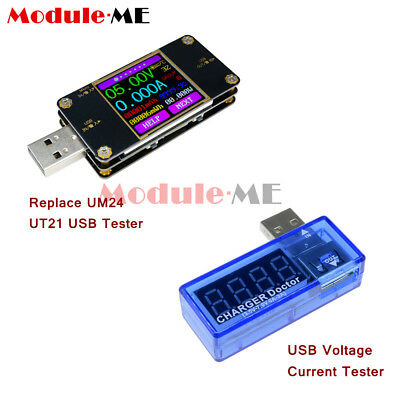 UT21 LCD TFT Current Voltage Power Capacity Meter USB Tester Replace UM24 DIY