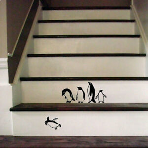 Funny-Falling-penguins-Decal-Sticker-for-Home-Door-Stair-Windows-Wall-Car-Decor