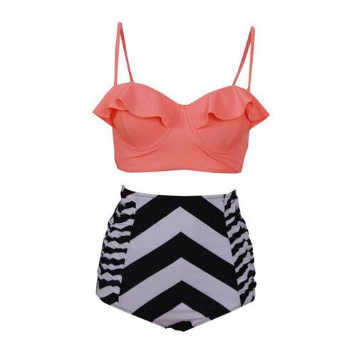 Femmes Maillots de bain une pièce//taille haute Ensemble bikini push up maillot de bain grande taille 2019