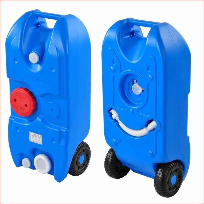 40L Water Tank Storage Storage Storage Portable Wheels Camping Caravan Motorhome Waste Transport 09975b