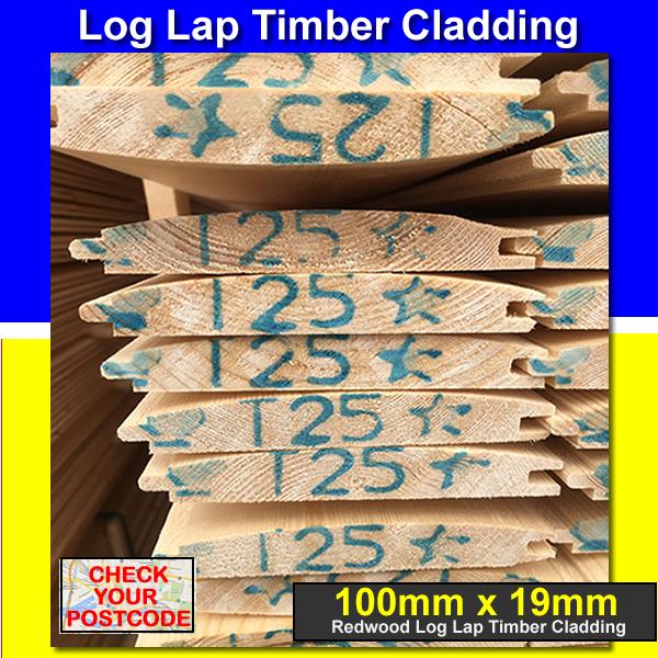 200mts - T&G TIMBER CLADDING LOG LAP TANALISED 100 x 19 SEE POSTCODES