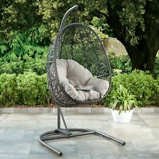 Wicker Kambree Rib Hanging Egg Chair With Cushion Stand Driftwood Finish For Sale Online Ebay
