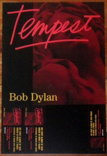 BOB DYLAN Tempest Discontinued Ltd Ed RARE New Poster Display FREE Folk Poster!