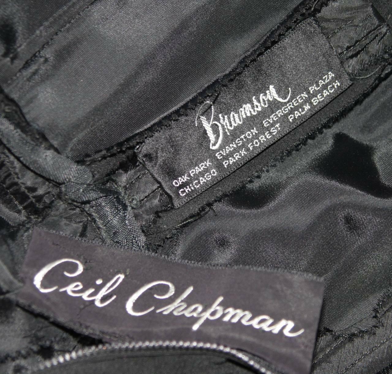 CEIL CHAPMAN Black Draped Princess Style Waist Dr… - image 10
