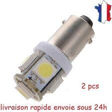 2X Ampoule T11 BA9S T4W 5 LED 12V 5050 SMD 6000K Blanc Pure Veilleuse Lampe