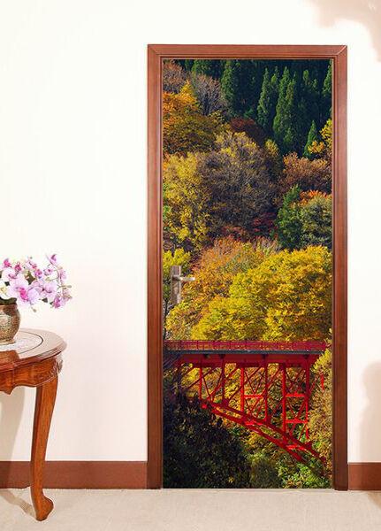 3D Wald 74 Tür Wandmalerei Wandaufkleber Aufkleber AJ WALLPAPER DE Kyra  | Good Design  | Moderne Muster  | Ideales Geschenk für alle Gelegenheiten