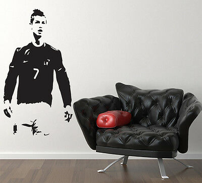 Cristiano Ronaldo Standing Children's Bedroom Decal Wall Art Sticker Picture