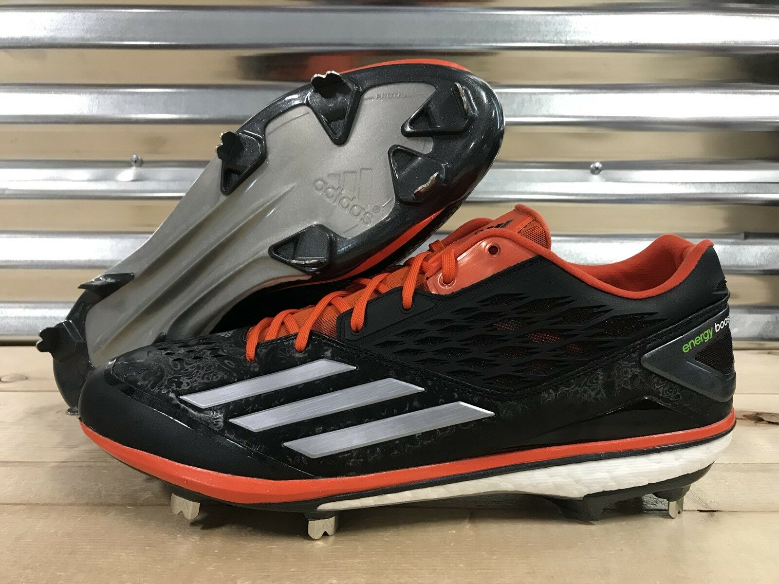 Adidas Energy Boost Icon Metal Baseball Cleats Black Orange Price reduction Great discount