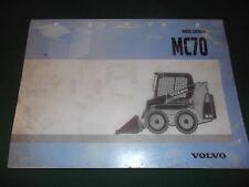 Volvo Mc70 Skid Steer Loader Parts Manual Book Catalog