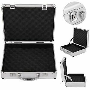 Aluminium-Pistol-Gun-Case-Storage-Lockable-Flight-Case-Foam-Tool-Box-Secured-UK