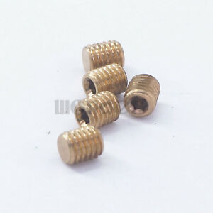 M10x1mm Metric male Brass Countersunk Plug hex head socket Pipe fittings