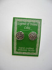 Sterling Silver Celtic Circle Knot Design Irish Stud Earrings New