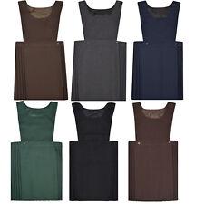 585f30c6a954 item 2 Girls Kids School Pleated Plain Bib Pinafore Dress Uniform Age 2-18 Black  Grey -Girls Kids School Pleated Plain Bib Pinafore Dress Uniform Age 2-18  ...