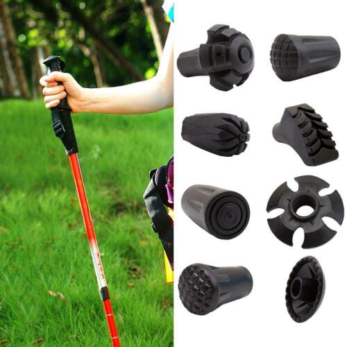 Outdoor Trekking Pole Adjustable Walking Sticks Hiking Accessory Black uk