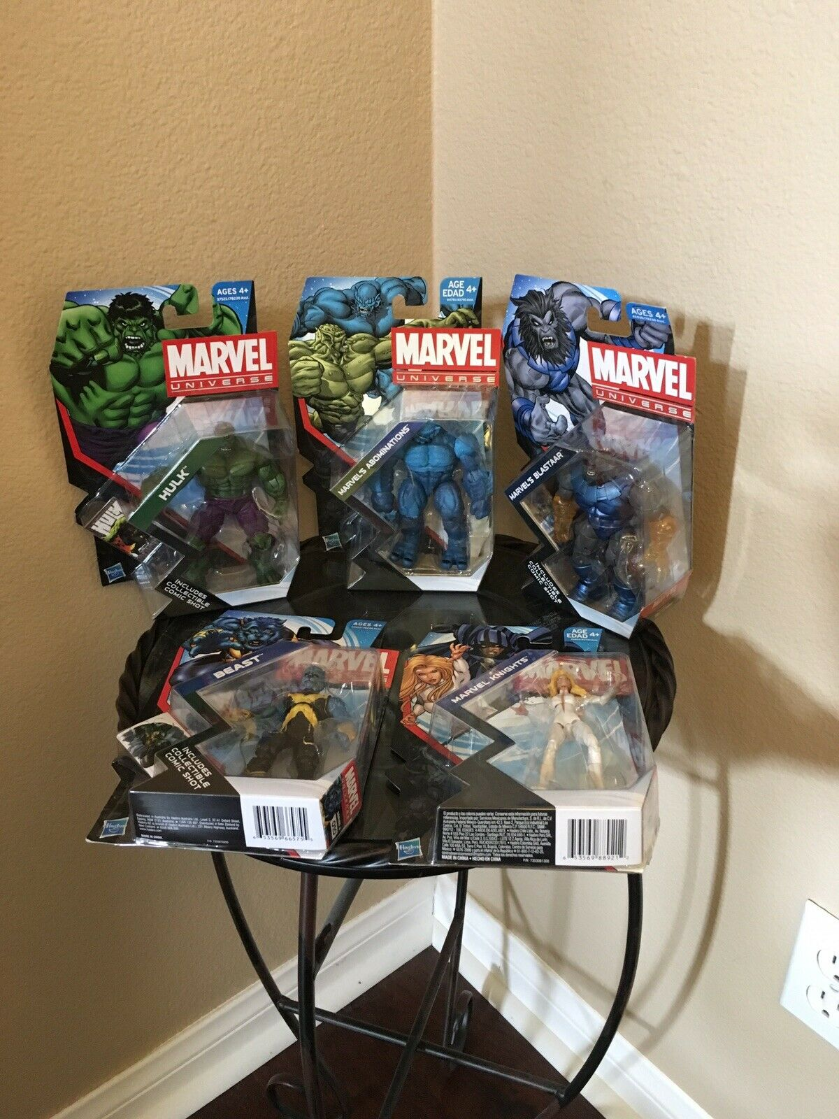 Marvel Universe Lot of 5 Hulk, Beast, Abominations, Blastaar, Marvel Knights NIB