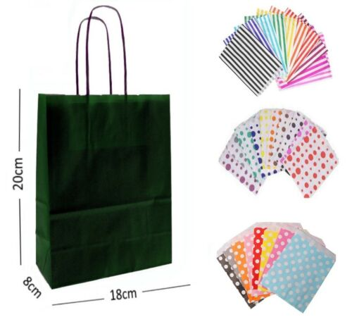 BRIGHT BIRTHDAY PARTY PAPER GIFT BAGS 60 WITH MATCHING CANDY SWEET CAKE BAG