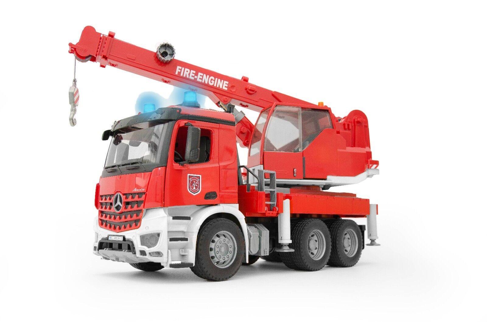 BRUDER® BRUDER® BRUDER®  03675  MB Arocs Feuerwehr-Kran mit Light and Sound Modul NEU & OVP 325bc6