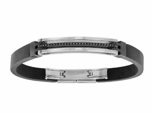 Image Is Loading Swarovski Bengal Black Bracelet Men 039 S Uni