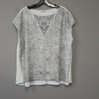 Chelsea Sky Womens Hi-Low Knit Crop Top