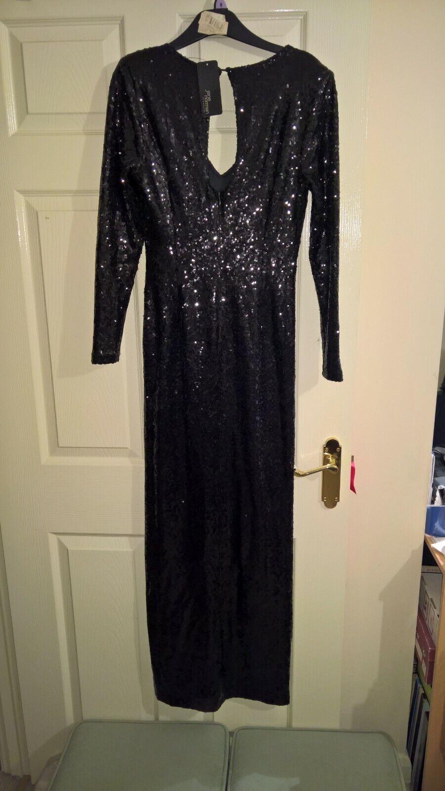 Jane Norman Ladies Sequin Maxi Dress