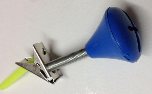 10 Angelglöckchen mit Knicklichthalter Angelzubehör Bißanzeiger blau